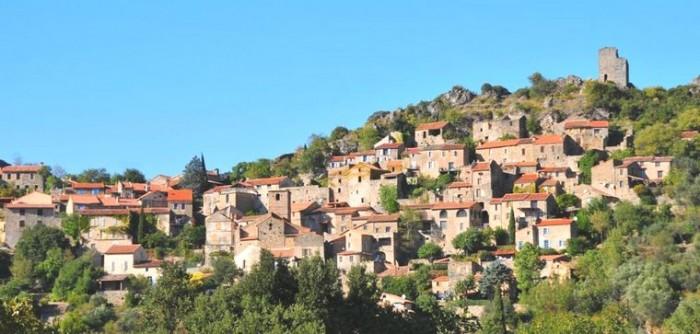 vue du village de vieussan